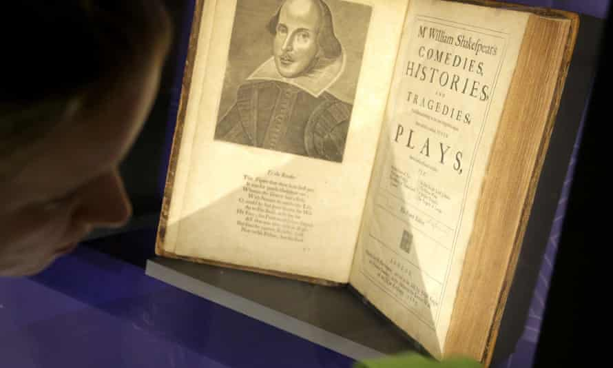 A 17th century edition of William Shakespeare's plays on show in the United States