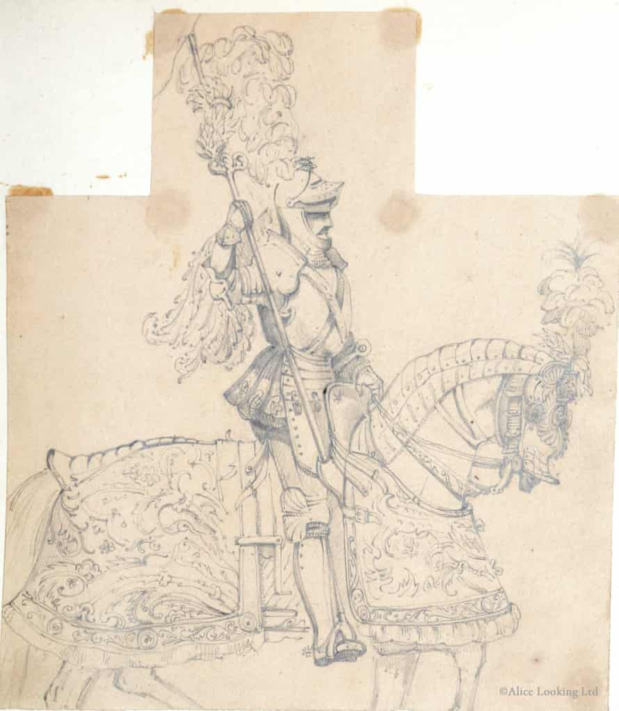 Another of the illustrations from John Tenniel's previously unpublished sketchbook.