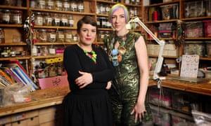 Rosie Wolfenden (left) and Tatty Devine co-founder Harriet Vine