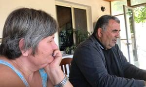 Silvana's mother, Yllka, and father, Mehmet Beqiraj