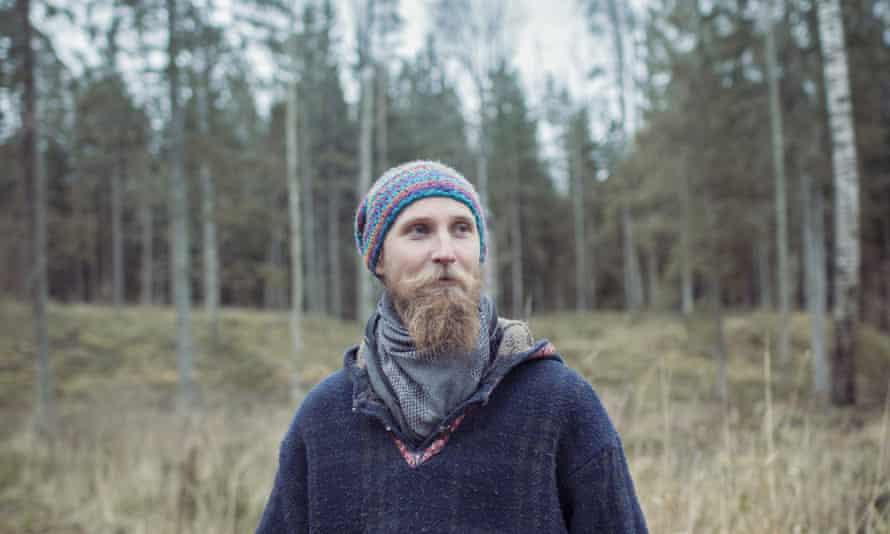 Kalev Järvik, Estonian carpenter, who lives near the Haanja nature reserve in southern Estonia.