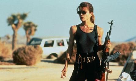 She'll be back … Linda Hamilton as Sarah Connor in 1991's Terminator 2.