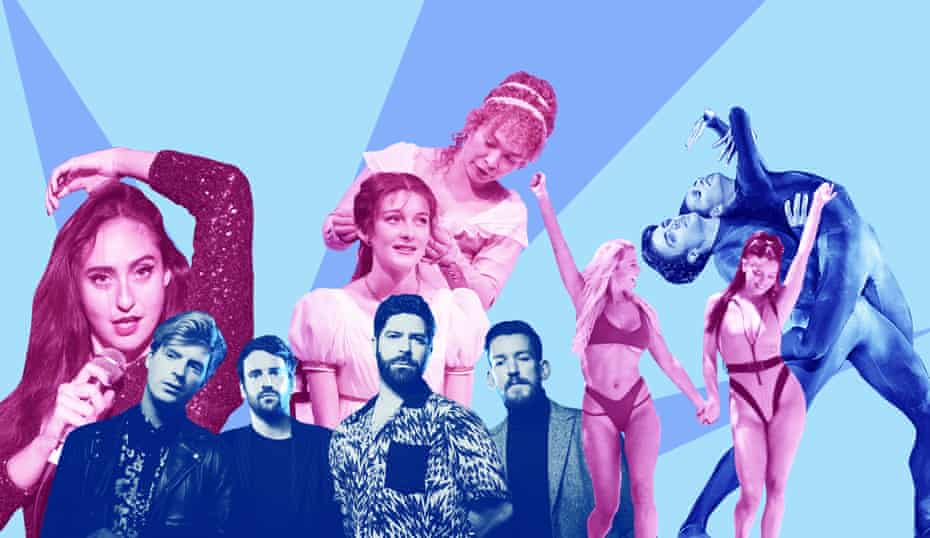 Cancelled by coronavirus … Catherine Cohen, Foals, The Watsons, Love Island and Inferno. Composite: The Guardian, Murdo MacLeod, Alex Knowles, ITV, Rex, Shutterstock, Manuel Harlan, Cheryl Mann, The Music Centre