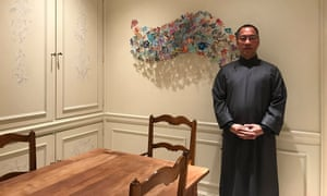 Billionaire Guo Wengui, whom Chinese security agents have tried to restrain from publishing accusatory tweets against the Beijing government.