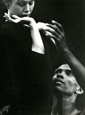 Allegra Kent and Arthur Mitchell rehearsing Agon, 1962.