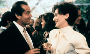 A lot to swallow … Jack Nicholson and Meryl Streep in the film version of Heartburn