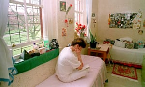 A typical room at Styal prison in 1995.