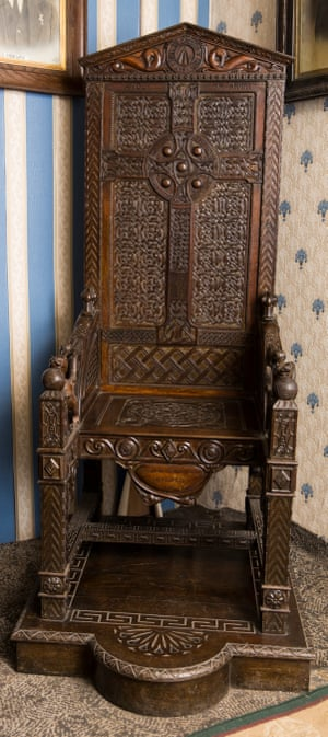 The black chair, given posthumously to Hedd Wyn at the national Eisteddfod