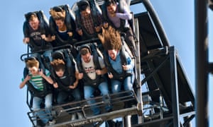 The Saw roller coaster ride at Thorpe Park