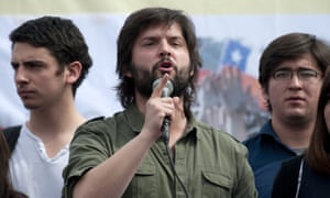 Gabriel Boric, who signed the letter to the Florida students along with fellow former students-turned-politicians Camilla Vallejo, Carol Kariola and Giorgio Jackson.