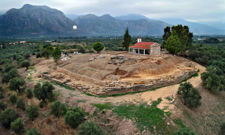 remains of a palace of the Mycenaean period in Greece