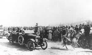 General Sir Edmund Allenby enters Jerusalem in a Vauxhall staff car.