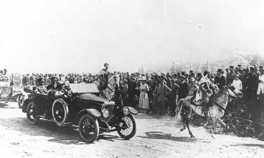 General Sir Edmund Allenby enters Jerusalem in December 1917, a month after the Balfour declaration.