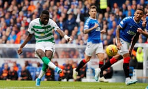 Celtic's Odsonne Edouard (left) scored against Rangers in the Old Firm derby this month.