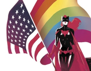 Star-spangled banger: Batwoman features in Love Is Love.