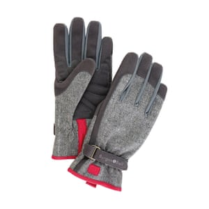 Grey and red tweed gardening gloves from by Burgon & Ball from John Lewis