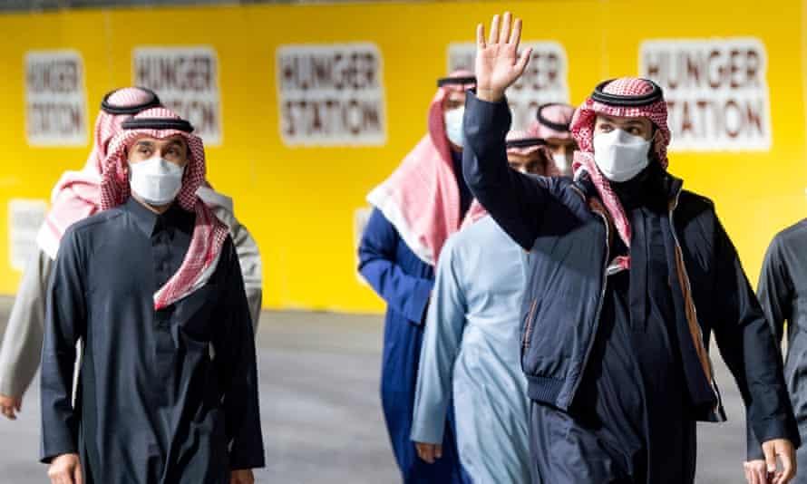 Saudi Arabia's Mohammed bin Salman (right)