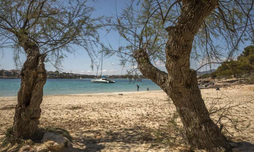 The bay of Portocolom in Mallorca