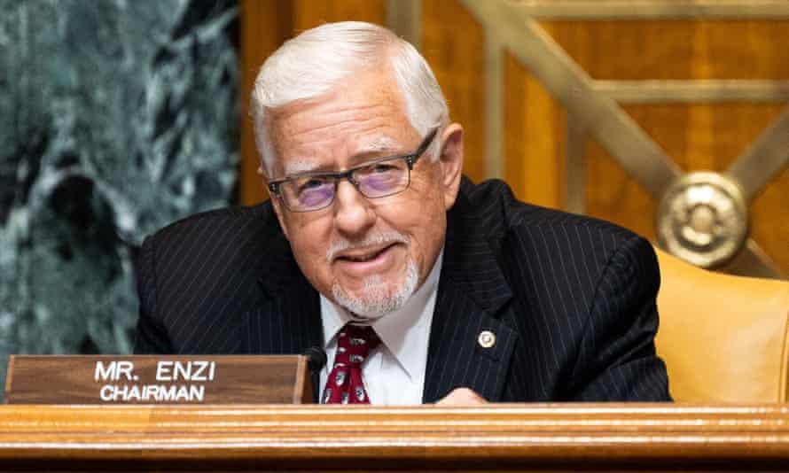 Mike Enzi, seen at a Senate committee hearing last year.