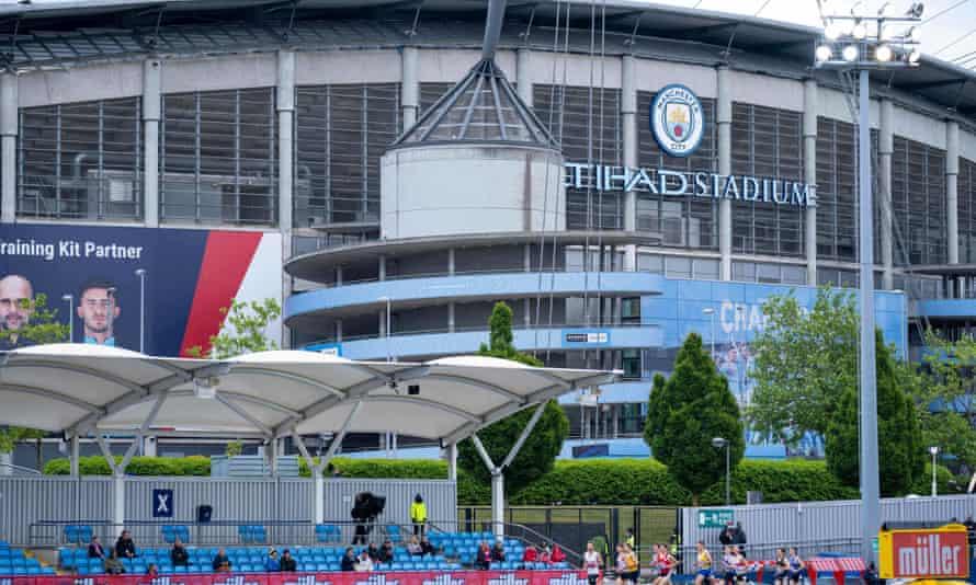 Manchester City's ground, the Etihad Stadium.