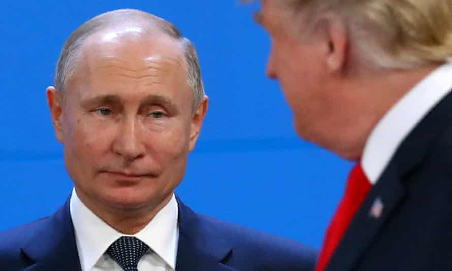 Vladimir Putin and Donald Trump during the G20 summit in Buenos Aires, November 2018.