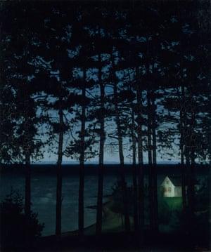 Fisherman's Cottage 1906 by Harald Sohlberg on loan from the Art Institute of Chicago