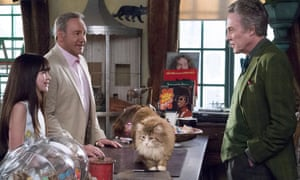 Basket case: Melina Weissman, Kevin Spacey and Christopher Walken star in Nine Lives.