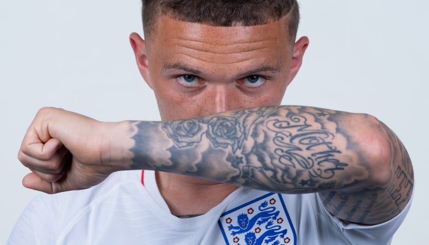 Kieran Trippier tattoo, the English number 2 from Bury, England