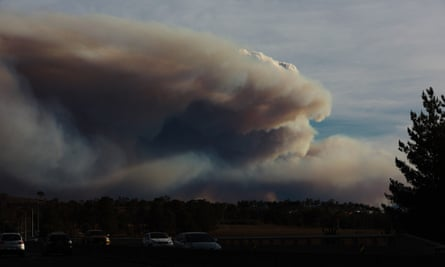 Smoke form the almost-biblical fires bearing down on Canberra.