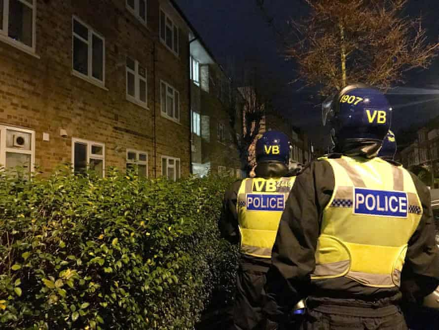 A raid during a police peration to tackle county lines drugs networks