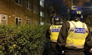 A police raid in January as part of an anti-county lines operation