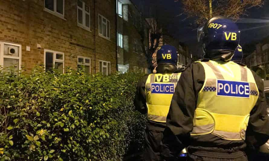 Police on a county lines operation