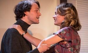 Bonas with Edmund Digby-Jones as a devilish Lucian Freud in Mrs Orwell.