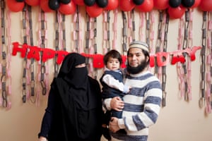 Fathima and Mohamed with one-year-old Sufiyan