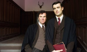 Predatory … Captain Grimes (Douglas Hodge) with Paul Pennyfeather (Jack Whitehall) in the BBC's Decline and Fall.