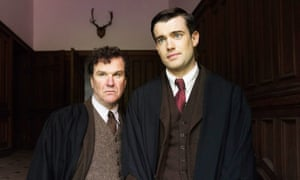 Douglas Hodge as Captain Grimes and Jack Whitehall as Paul Pennyfeather in the 2017 adaptation of Evelyn Waugh's Decline and Fall.