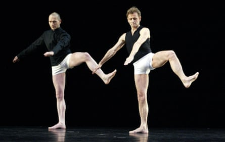 'I couldn't keep up!' … Mikhail Baryshnikov, right, with Michael Clark in Nevertheless Caviar in 2004.