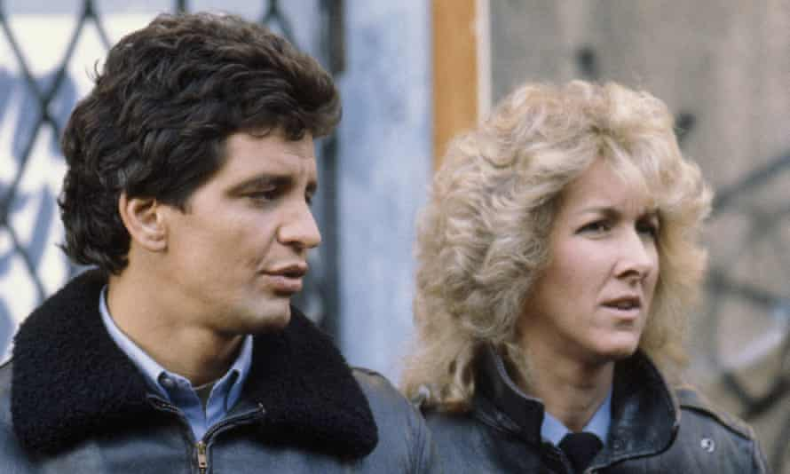 Ed Marinaro and Megan Gallagher in Hill Street Blues: it was an anomoly when Joyce Carol Oates wrote about it.