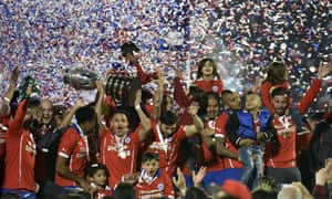 Chile celebrate last year's cup.