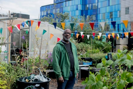 ▲ Retired dancer Mikloth Bond at Core Landscapes Community Nursery and Garden Photograph:  camilla greenwell