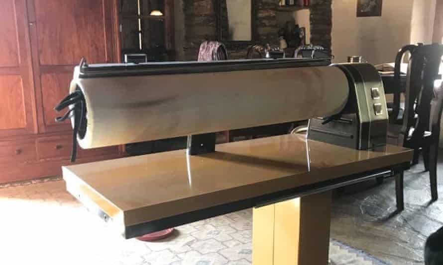 Ulli Stahlmann's rotary ironing machine.