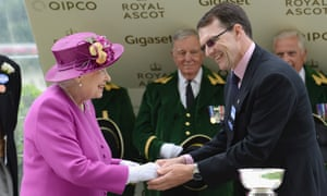 """Queen Elizabeth II at Royal Ascot in 2017"""