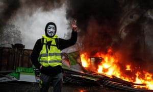 The gilets jaunes movement started off as a protest against fuel-tax rises but it has now morphed into an anti-Macron one.