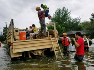 Texas National Guard soldiers aid residents in heavily flooded areas