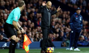 """Manchester City's Pep Guardiola continues to describe his former club Barcelona as """"the best""""."""