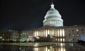 Capitol Hill in Washington DC last night.