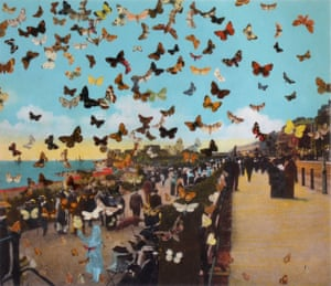 Peter Blake's The Butterfly Man in Eastbourne (Homage to Damien Hirst), 2010.