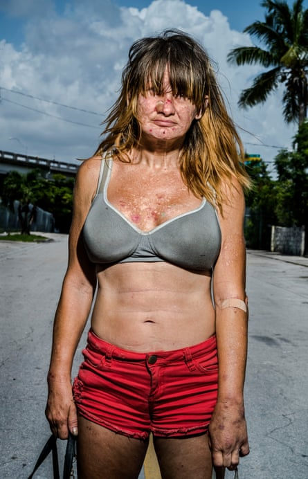 One of the women from Only God Can Judge Me in Overtown, Miami.