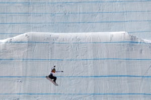 Asami Hirono of Japan runs the course during the women's slopestyle final at the Phoenix Snow Park.