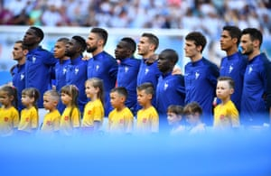 France during the national anthem.